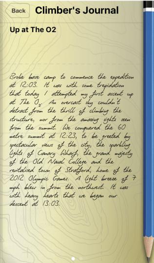 Climber's Journal 1