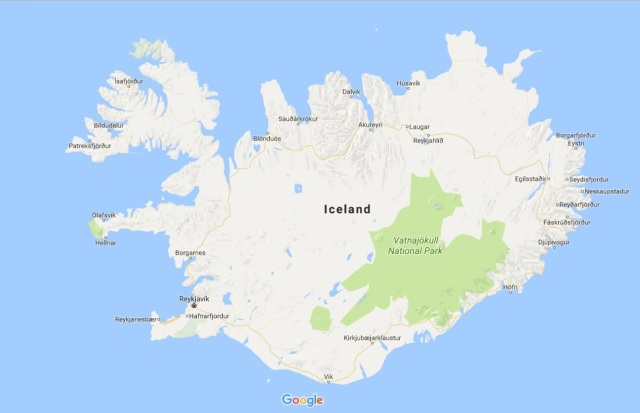 Friday fancy iceland travels from overend iceland courtesy of google maps gumiabroncs Gallery